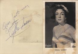 Autographe De Gloria Lasso