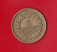 "5 FRANCS  ""LAVRILLIER En Cupro-alu.""  1945 TTB+ - J. 5 Francs"