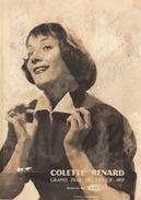 Autographe De Colette Renard