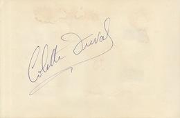Autographe De Colette Duval - Autographs