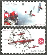 Sc. # 2158 & 59 Canadian Forces Snow Birds Pair 2006 Used K1199 - 1952-.... Règne D'Elizabeth II
