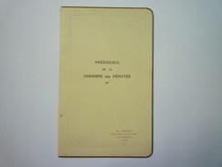 MENU  -  Présidence De La  CHAMBRE Des DEPUTES  8 Mars  1939   XXXX - Menus