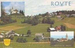 Slovénie       H3        ROVTE. 3 Vues.Logatec , Medvedje Bado , VRH SV TREH Kraljev - Slovénie