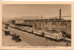 54. Champigneulles. Les Grandes Brasseries Et Malteries.quai De Chargement Des Wagons - Andere Gemeenten