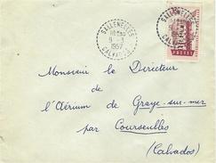 1957- Enveloppe Affr à 15 F Oblit. Cad 1 Cercle Point. Facteur-Receveur De SALLENELLES / Calvados - Marcophilie (Lettres)