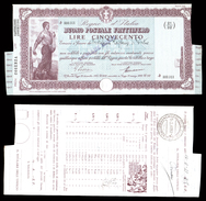 [NC] BUONO POSTALE FRUTTIFERO 500 LIRE 1941 REGNO D'ITALIA (nc1646) - Italia