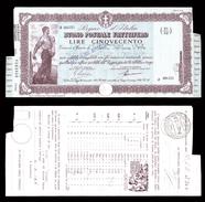 [NC] BUONO POSTALE FRUTTIFERO 500 LIRE 1941 REGNO D'ITALIA (nc1648) - Italia