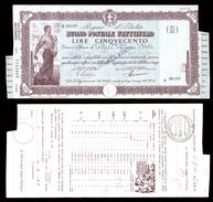 [NC] BUONO POSTALE FRUTTIFERO 500 LIRE 1941 REGNO D'ITALIA (nc1649) - Italia
