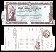 [NC] BUONO POSTALE FRUTTIFERO 500 LIRE 1939 REGNO D'ITALIA (nc1651) - Italia