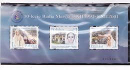 POLOGNE 2001 RADIO MARYJA TP 3715 BLOC 156  MNH - Unused Stamps
