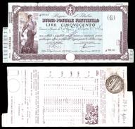 [NC] BUONO POSTALE FRUTTIFERO 500 LIRE 1939 REGNO D'ITALIA (nc1652) - Italia