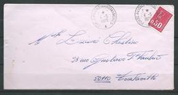 Porte Avions ARROMANCHES- Cachet Rond  04:05:73 - Postmark Collection (Covers)