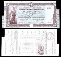 [NC] BUONO POSTALE FRUTTIFERO 500 LIRE 1941 REGNO D'ITALIA (nc1653) - Italia