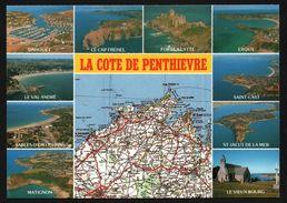 Carte Géographique De La Côte De Penthièvre - Saint Cast - Erquy - Matignon - Dahouët - Multivues - ART JACK - Ohne Zuordnung