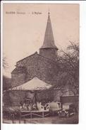 CPA - RAZES (bourg) - L'eglise - Manège D'enfants - Vieille Voiture - France