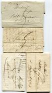 HERAULT De BEDARIEUX 4 LAC De 1826 à 1830 Avec Linéaire 43x12 - Marcophilie (Lettres)