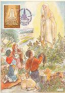 D28690 CARTE MAXIMUM CARD 1967 PORTUGAL - APPEARANCE FATIMA CP ORIGINAL - Christianisme
