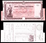 [NC] BUONO POSTALE FRUTTIFERO 1000 LIRE 1941 REGNO D'ITALIA (nc1655) - Italia