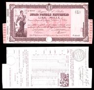 [NC] BUONO POSTALE FRUTTIFERO 1000 LIRE 1941 REGNO D'ITALIA (nc1656) - Italia