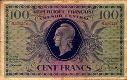 FRANCE Trésor Central 100 Francs ORD DU 20-10-1943  PICK 105 - Tesoro