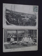 ALGER (Algérie) - Lot De 2 Cartes (CPA) - Mustapha Supérieur à Travers Las Aloès - Jeunes Mauresques Filant Au Métier - Algiers