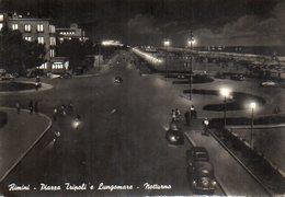 Rimini - Piazza Tripoli E Lungomare - Notturno - (animata - Auto) - Rimini