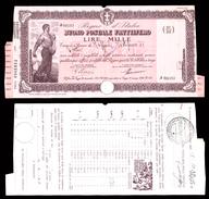 [NC] BUONO POSTALE FRUTTIFERO 1000 LIRE 1939 REGNO D'ITALIA (nc1659) - Italia