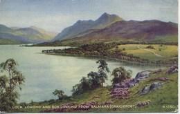 VALENTINES ART A1580 - LOCH LOMOND AND BEN LOMOND FROM BALMAHA (CRAIGIEFORT) - E H THOMPSON - Inverness-shire