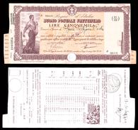[NC] BUONO POSTALE FRUTTIFERO 5000 LIRE 1941 REGNO D'ITALIA (nc1661) - Italia