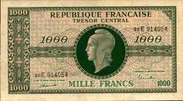 FRANCE Trésor Central 1000 FRANCS De 1944nd  PICK 107 AU/SPL - Treasury