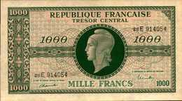 FRANCE Trésor Central 1000 FRANCS De 1944nd  PICK 107 AU/SPL - 1947 French Treasury