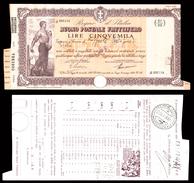 [NC] BUONO POSTALE FRUTTIFERO 5000 LIRE 1941 REGNO D'ITALIA (nc1662) - Italia