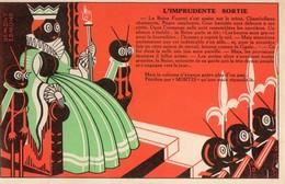 L'imprudente Sortie  -  Publicite Produits MORTIS  -  Dessin Edmond Demont - Publicité