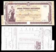 [NC] BUONO POSTALE FRUTTIFERO 5000 LIRE 1942 REGNO D'ITALIA (nc1663) - Italia