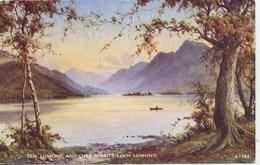 VALENTINES ART A1582 - BEN LOMOND AND LUSS STRAITS, LOCH LOMOND  - E H THOMPSON - Inverness-shire
