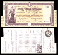 [NC] BUONO POSTALE FRUTTIFERO 5000 LIRE 1938 REGNO D'ITALIA (nc1665) - Italia