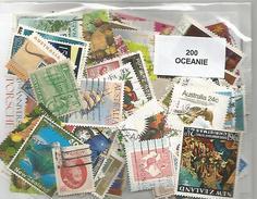 Lot De 200 Timbres D'Océanie - Timbres