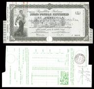 [NC] BUONO POSTALE FRUTTIFERO 20000 LIRE 1947 REPUBBLICA ITALIANA (nc1666) - Italia