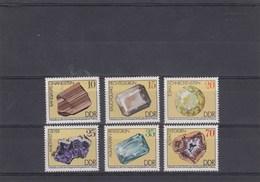 Allemagne Orientale - Neufs** - Minéraux  Année 1974 Y.T. 1687/1692 - [6] République Démocratique