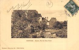 CPA 95 PONTOISE MOULIN RUE DES DEUX PONTS 1909 - Pontoise