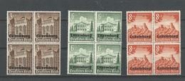 Luxembourg:  33 + 36 + 37  ** (Blocs De 4) - 1940-1944 Occupation Allemande