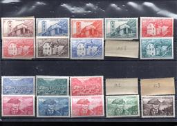 ANDORRE FRANCAIS 100/118** SUR LA SERIE COURANTE MANQUENT LES 3 VALEURS IDENTIFIES SUR LE SCAN - Unused Stamps