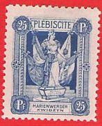 MiNr.34 X (Falz) Deutschland Deutsche Abstimmungsgebiete Marienwerder - Coordination Sectors