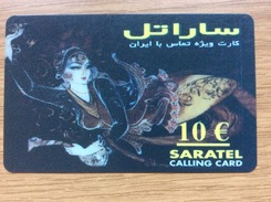 Saratel   - 10 Euro Arabic Letters   - Little Printed  Nice Woman -   Used Condition - Deutschland