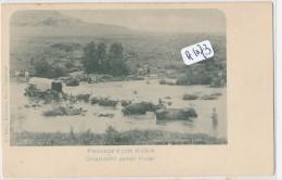 CPA  ( Précurseur)  - A1073 - Afrique Du Sud - Passage D'une Rivière - South Africa