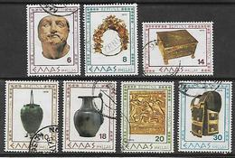 GREECE 1979 Hellas#1481-87 Archaeological Findings Of Vergina, Complete Set USED - Griechenland