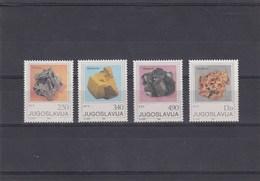 Yougoslavie - Minéraux Neufs** Année 1980 Y.T. 1734/1737 - Ungebraucht