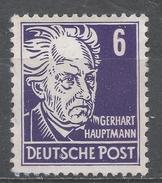 German Occupation, Russian 1948. Scott #10N30 (M) Gerhard Hauptmann * - Soviet Zone