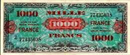 FRANCE DRAPEAU 1000 FRANCS De 1944nd Pick 125  XF/SUP RARE - France