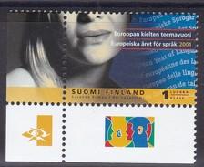 2001 Finnland, 1554, Eueropäisches Jahr Der Sprache   MNH **, - Finland